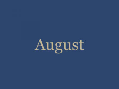 August '20