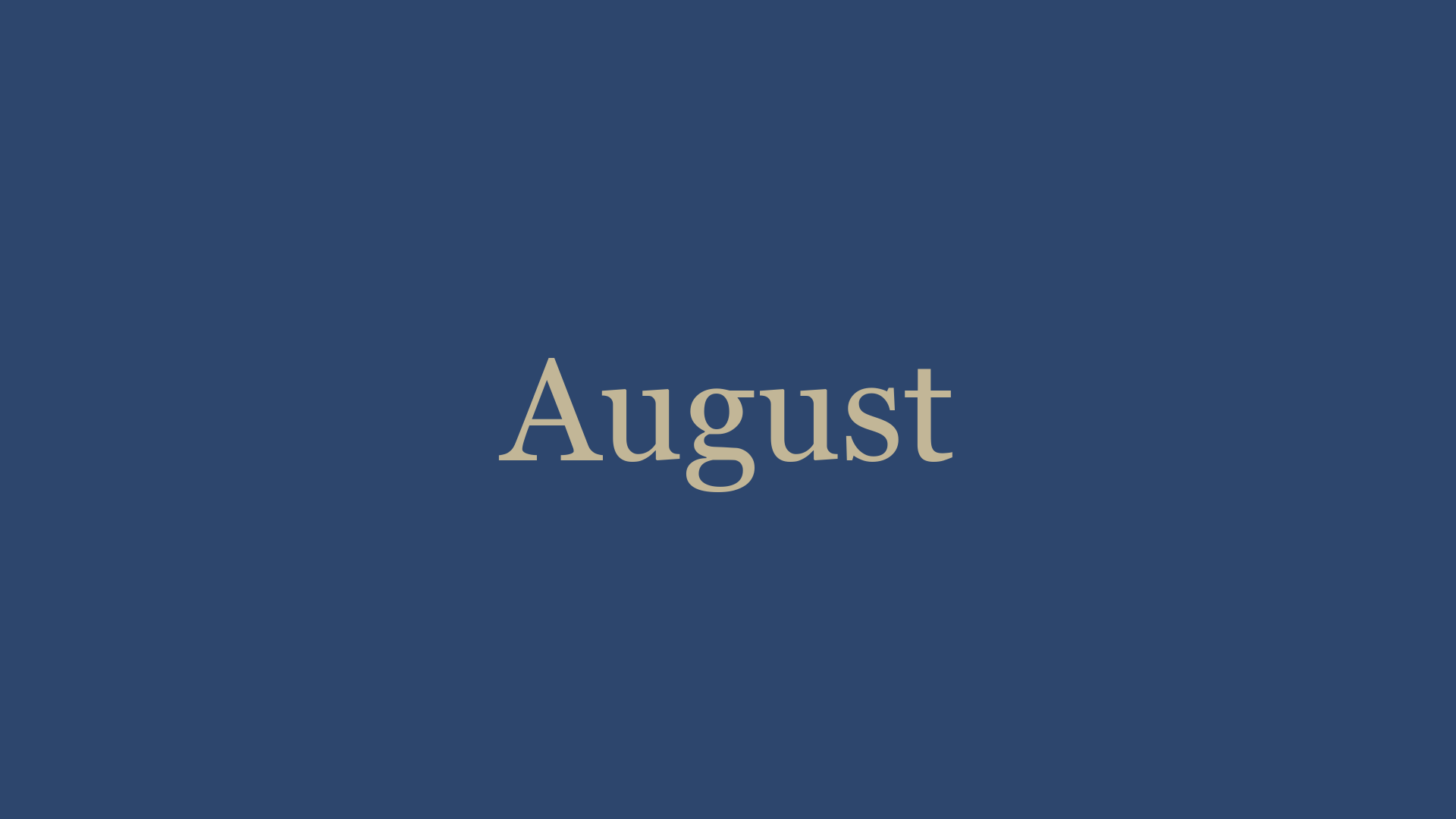 August '21