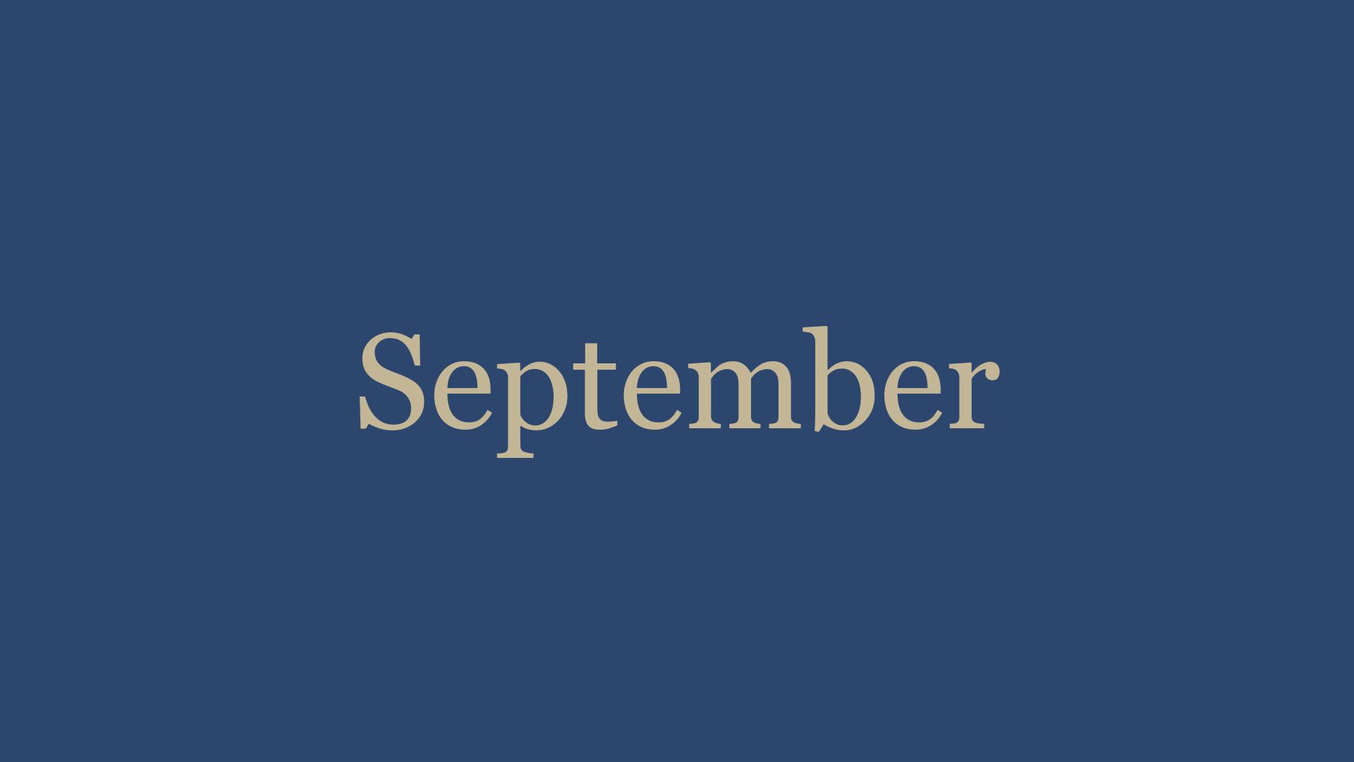 September '21